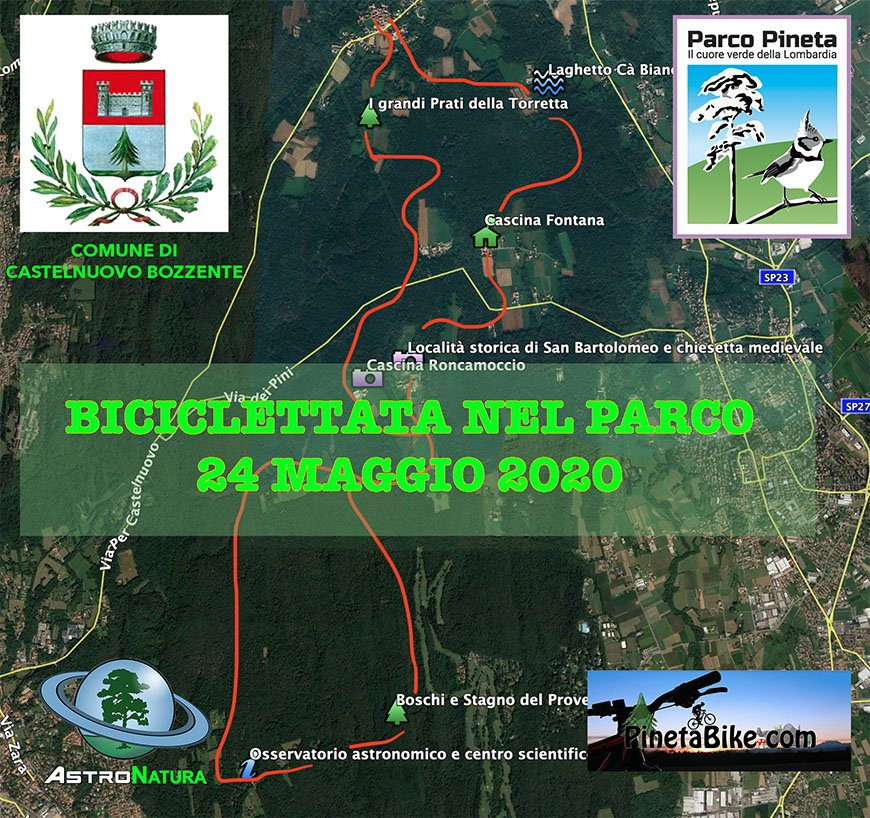 BICICLETTATA NEL PARCO PINETA 2020